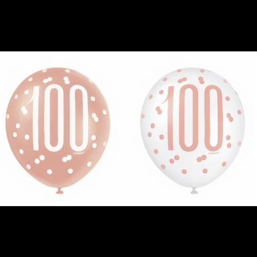 100 jaar ballonnen rose goud