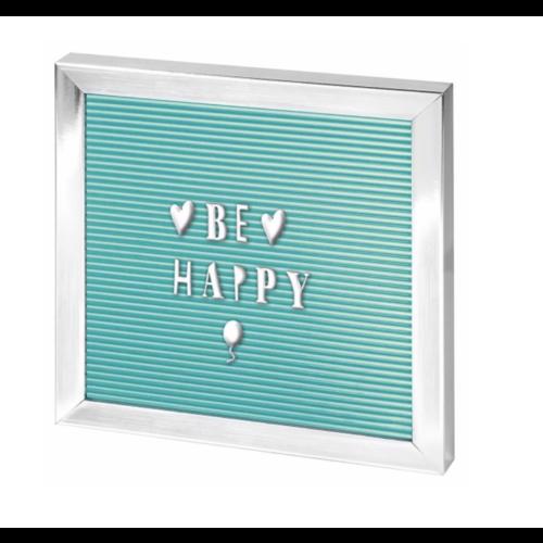 Mint groen letter bord - zilver