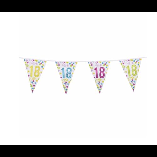 18 jaar vlaggetjes confetti fun