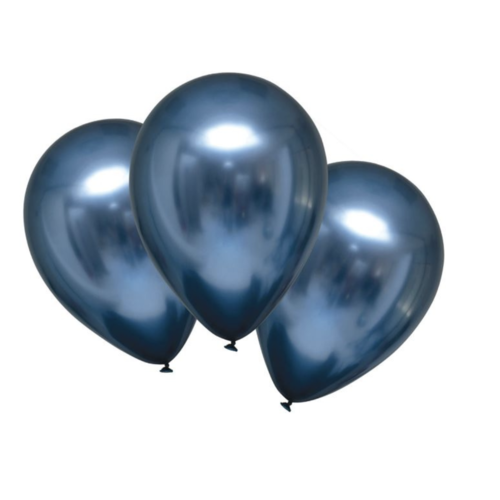 Ballonnen metallic blauw chrome
