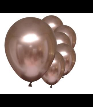 Rosé goud metallic ballonnen chrome