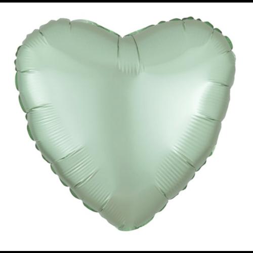 Hart ballon mint groen