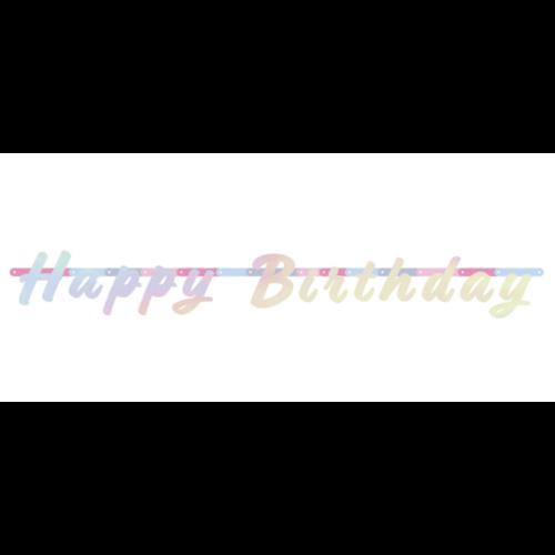 Happy Birthday parelmoer slinger