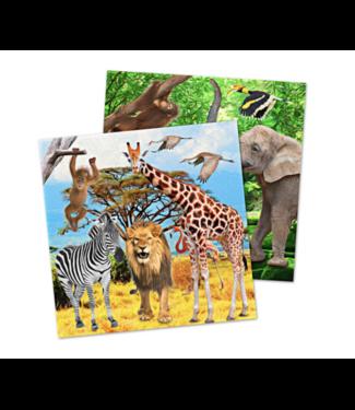 Safari dieren servetten
