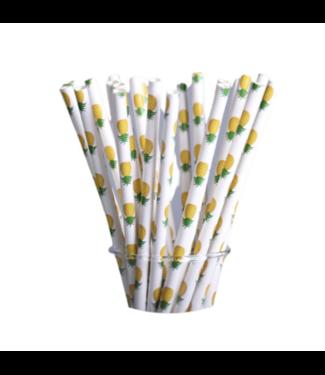 Ananas papieren rietjes