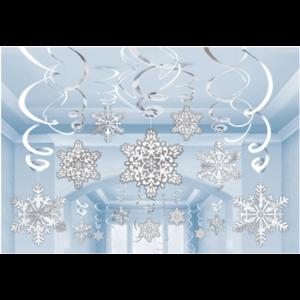 Winter Sneeuwvlokken slingers