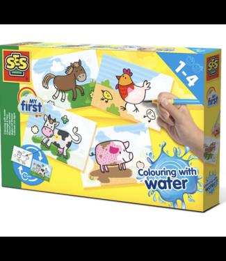SES creative  SES kleuren met water boerderij dieren