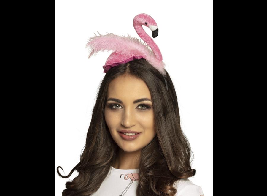 Flamingo tiara roze