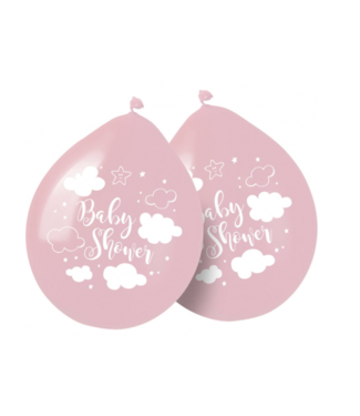Babyshower ballonnen pastel roze