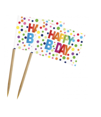 Happy Bday prikkers regenboog