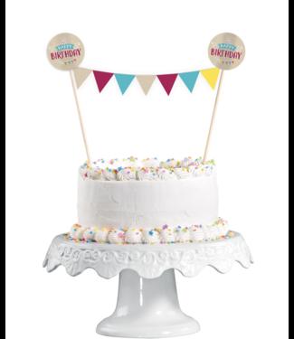 Happy birthday taart topper kraft