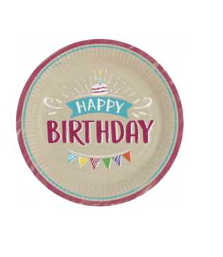 Amscan  Happy birthday borden kraft