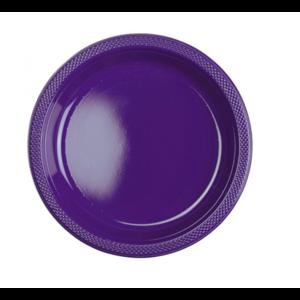 Borden donker paars plastic