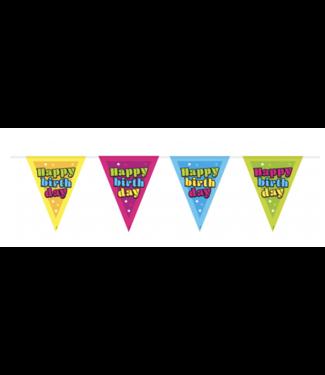 Folat  Happy birthday vlaggenlijn neon