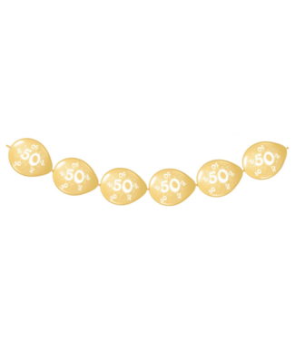 50 jaar ballonnen slinger goud