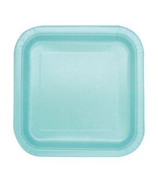 Mint groen borden vierkant