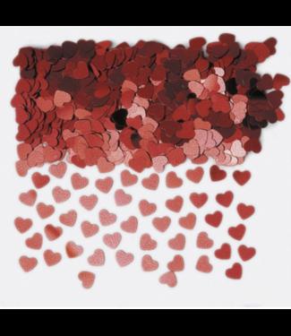 Amscan  Confetti hartjes rood