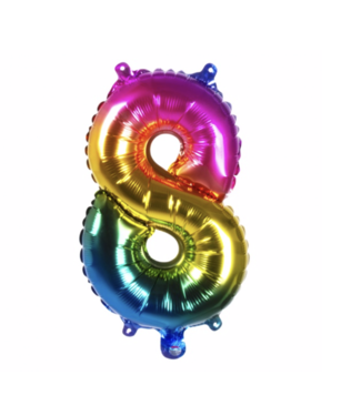 Regenboog ballon 36 CM
