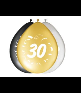 Folat  30 jaar ballonnen goud - zilver