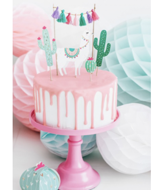 Partydeco Lama taart toppers