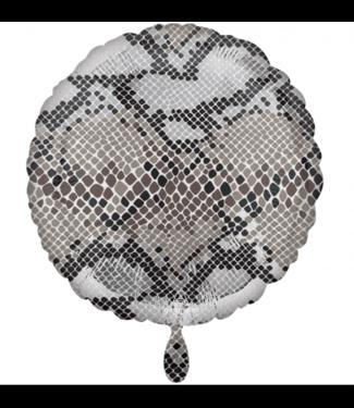 Slangen print folie ballon