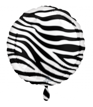 Zebra folie ballon