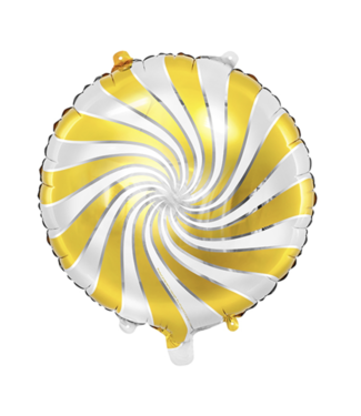 Partydeco Folie ballon rond candy goud