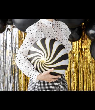 Partydeco Folie ballon candy zwart