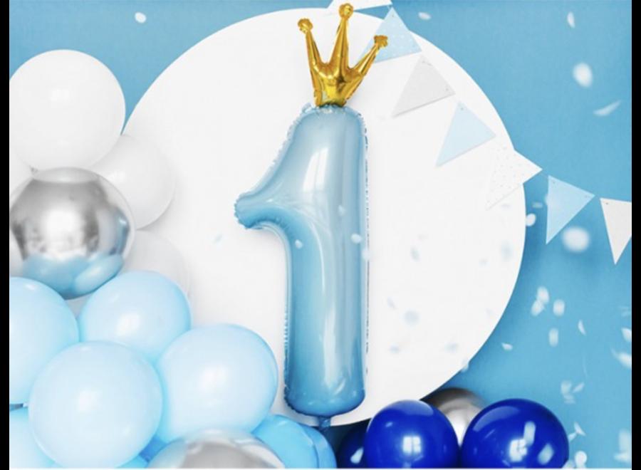 Folie ballon 1 jaar kroon