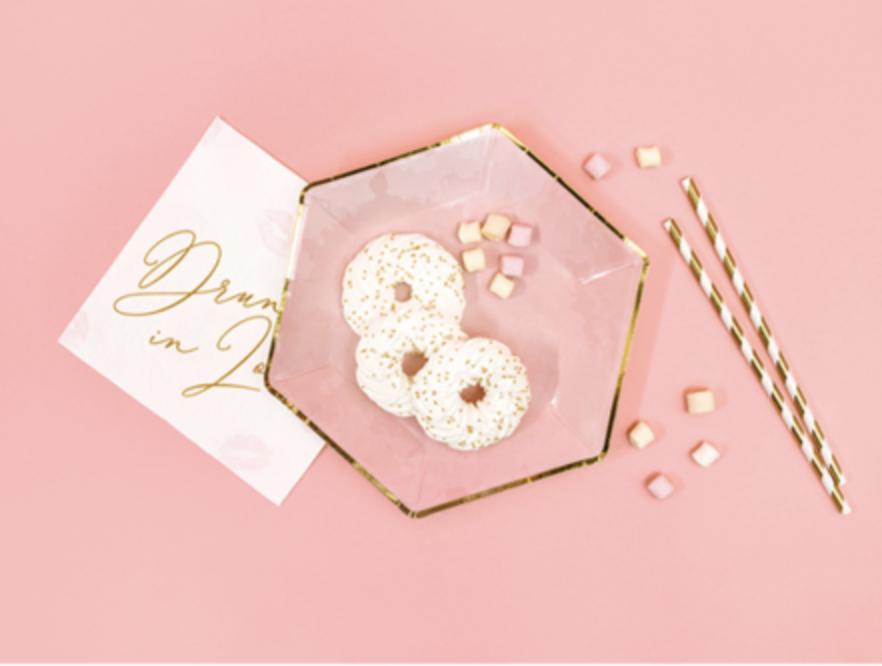 metallic goud - roze borden