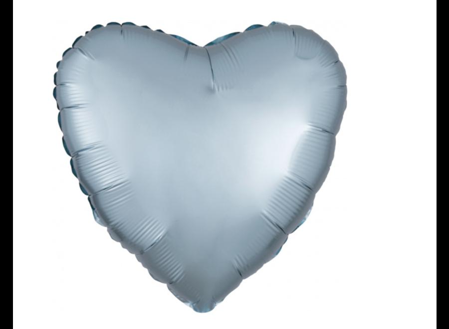 Hart ballon mint blauw