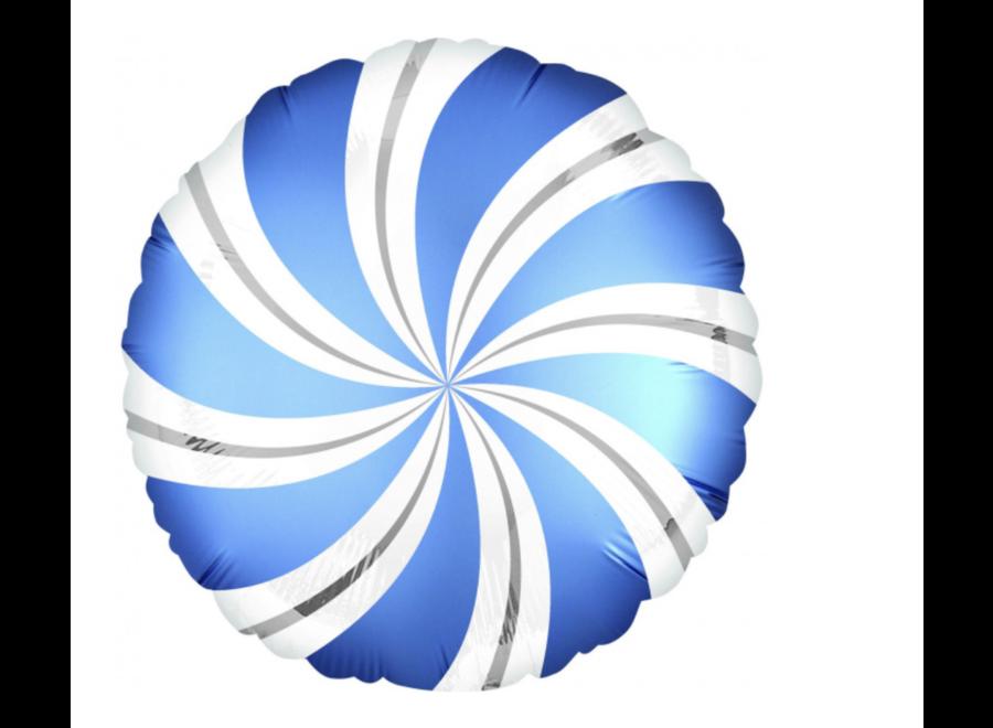 Swirl ballon blauw