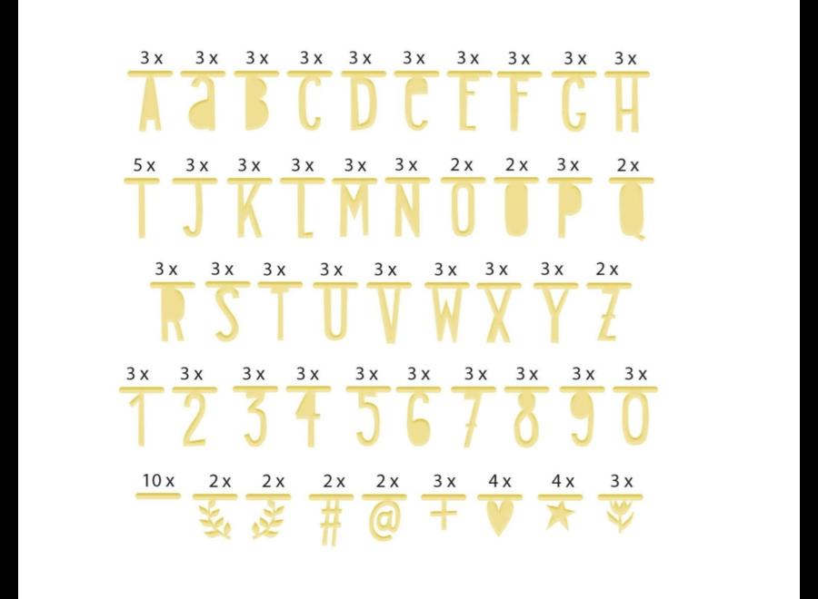 Letter slinger goud