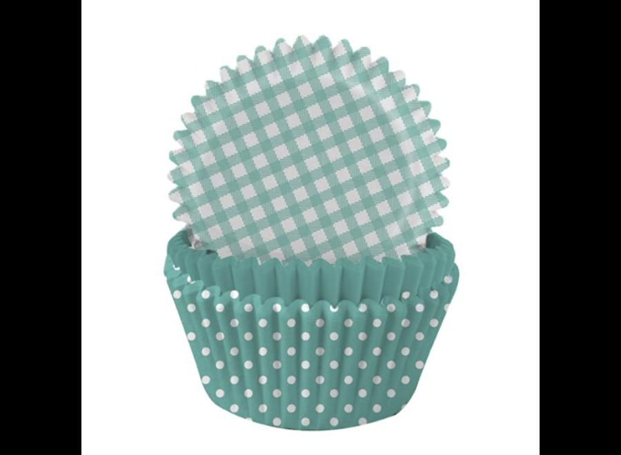 Mint cupcakes stippen