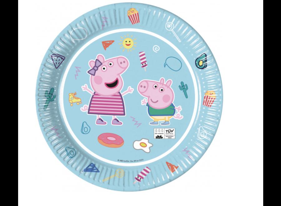 Peppa Pig borden licht blauw