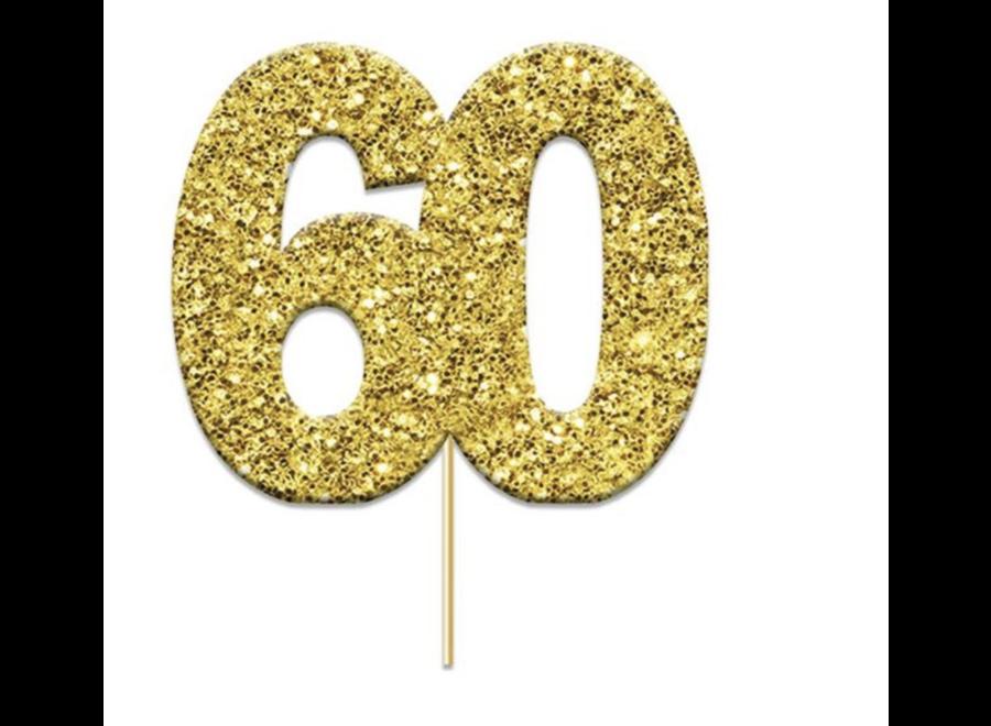 60 jaar toppers Goud