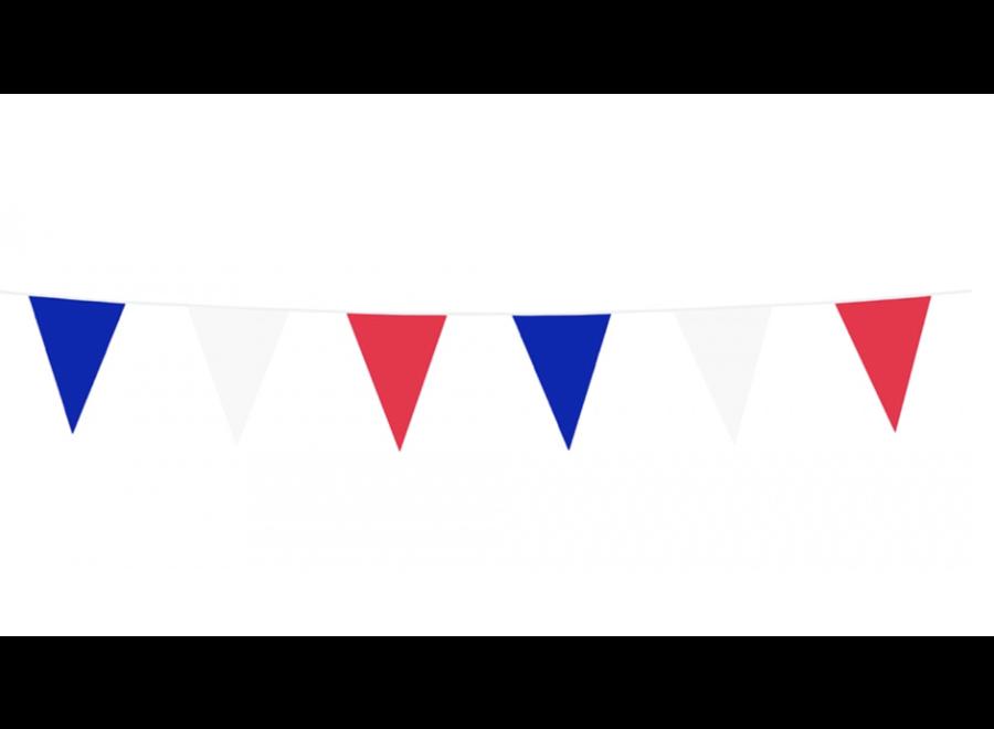Vlaggenlijn rood - wit - blauw