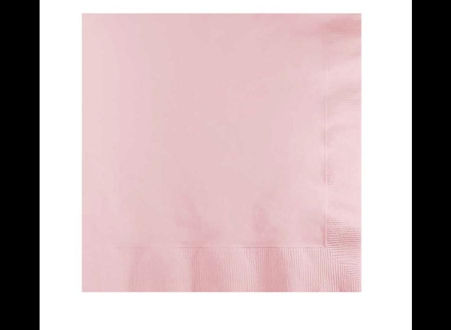 Zalm roze servetten