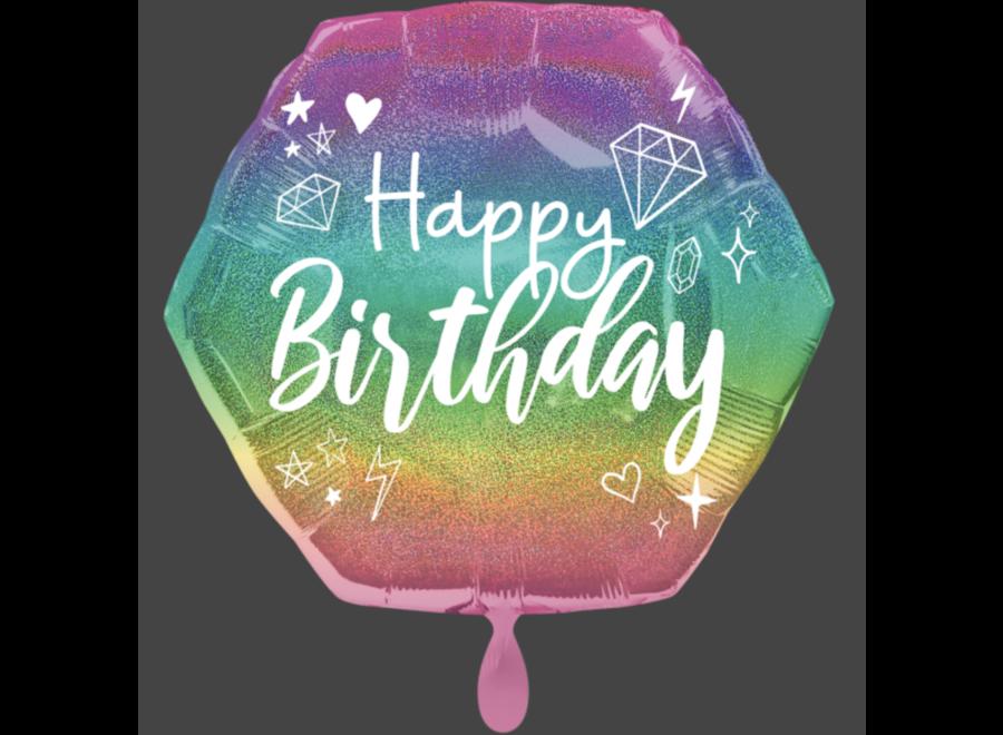 Folie ballon sparkle Happy birthday