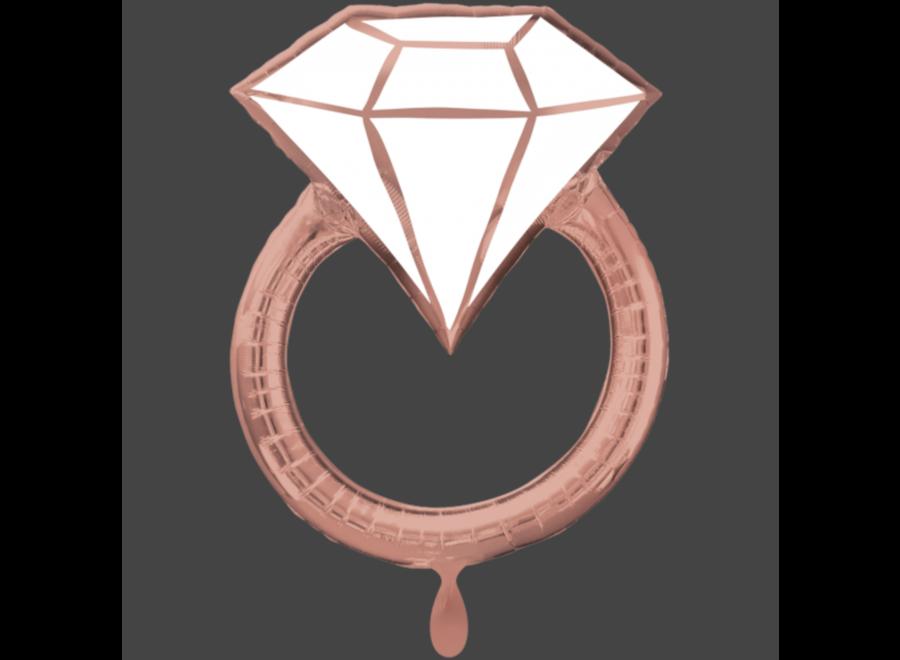 Ring ballon rosé goud