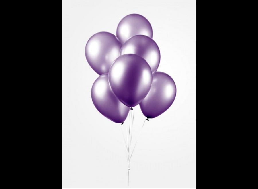 Ballonnen metallic paars 25