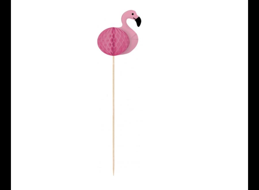 Flamingo cocktail prikkers roze
