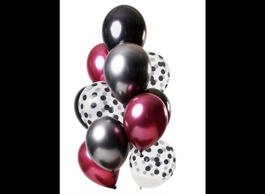 ballonnen mix rood - zwart