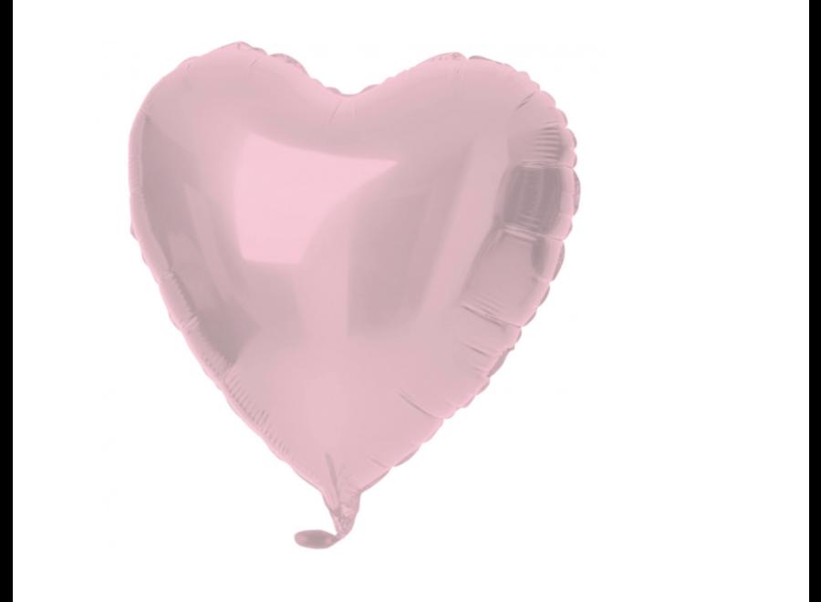 Pastel roze hart folie ballon