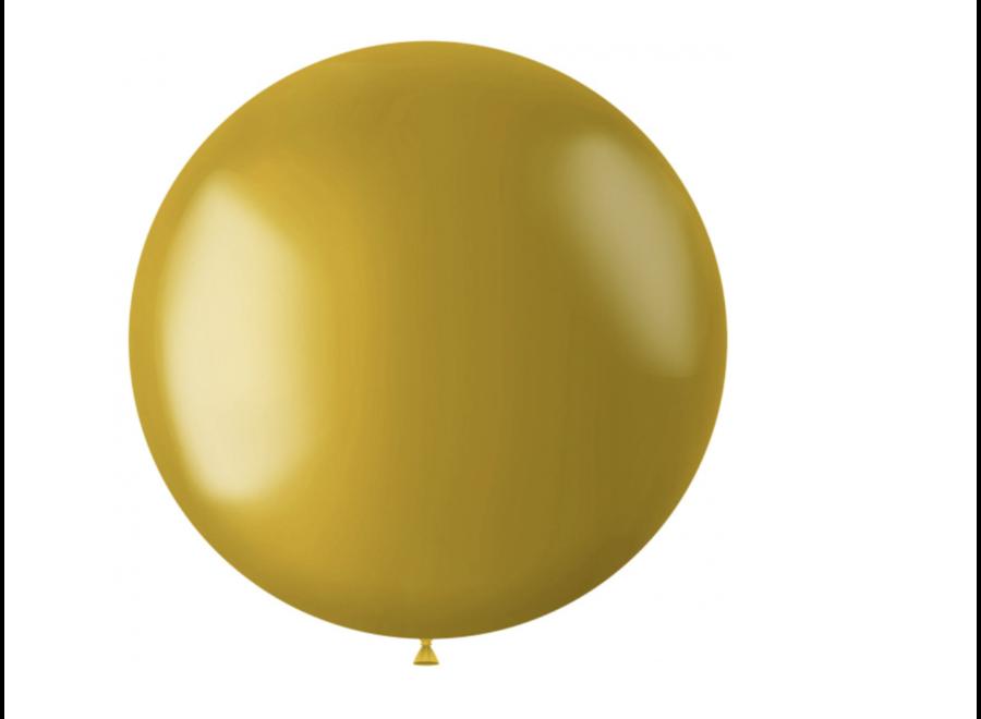 Ballon metallic goud XL 78 CM