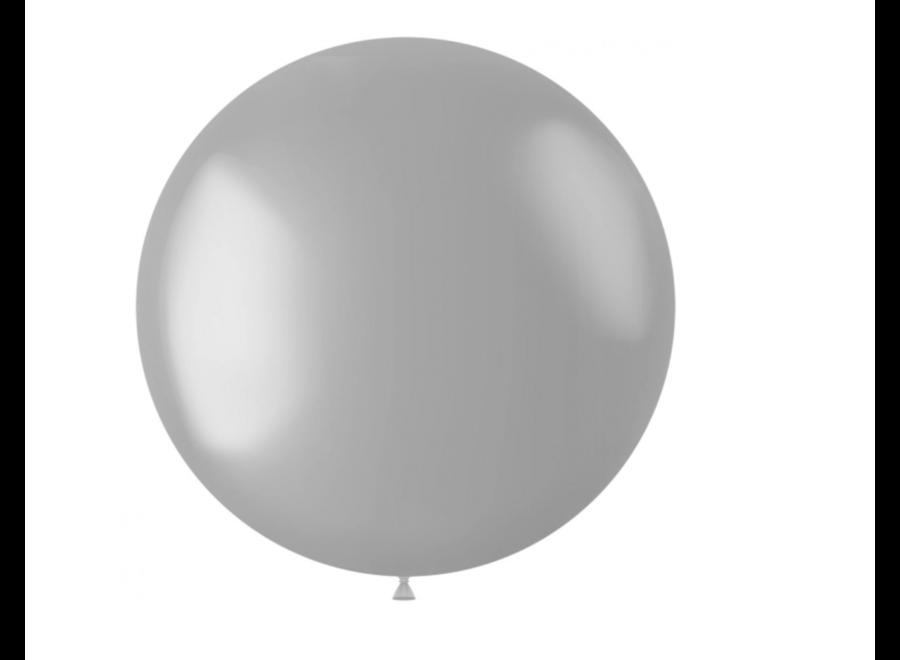Ballon metallic zilver XL 78 CM