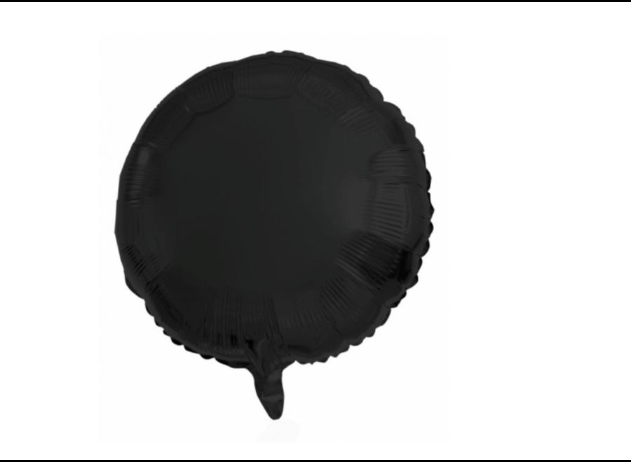 Folie ballon zwart rond