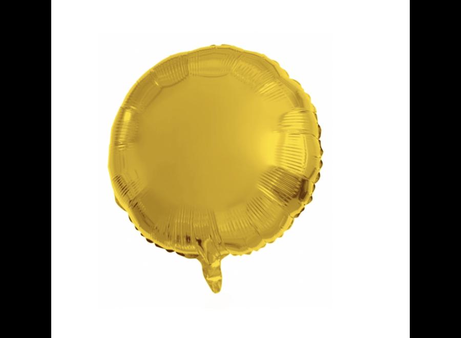 Folie ballon rond goud