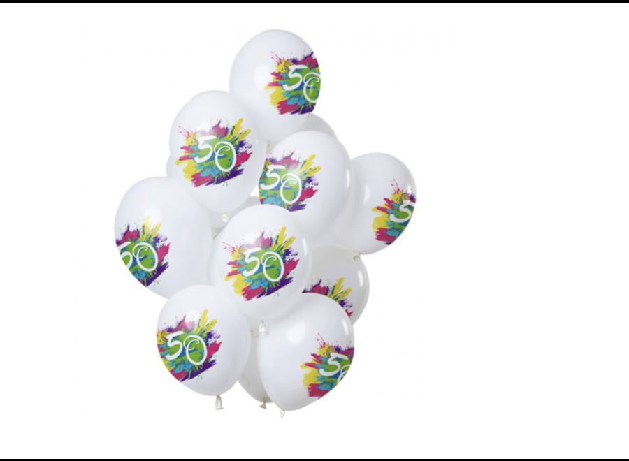 50 jaar ballonnen splash