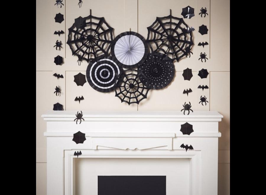 Halloween decoratie set zwart - wit
